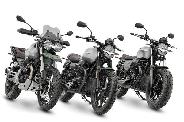 """Die V85 TT, V7 und V9 in einer für das Jahr 2021 zeitlich limitierten Special Edition in der Jubiläums-Lackierung """"Centenario"""""""